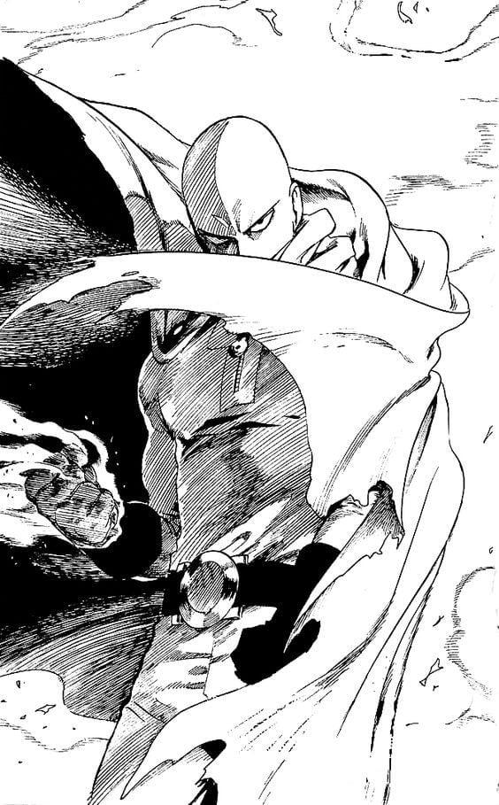 One Punch man Saitama serio - Saitama para colorir do One Punch Man