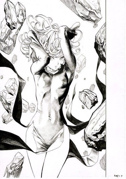 Tatsumaki Sensual para colorir OPM - Tatsumaki Sensual para colorir do One Punch man