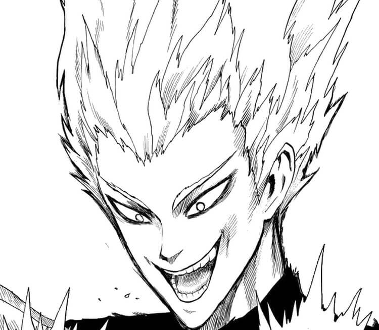 Garou para colorir do One Punch Man