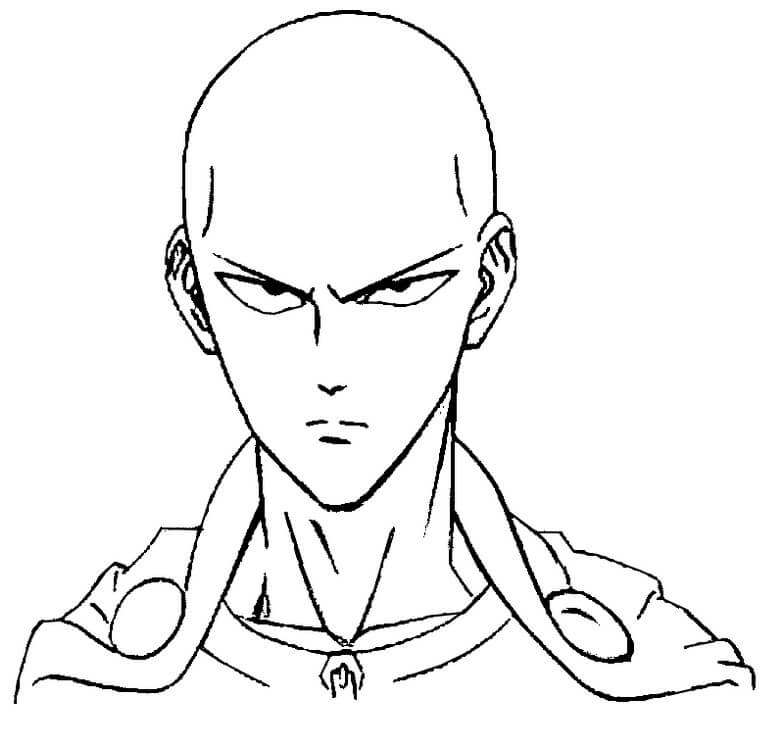 one punch man para colorir - Saitama de One punch man para colorir e imprimir