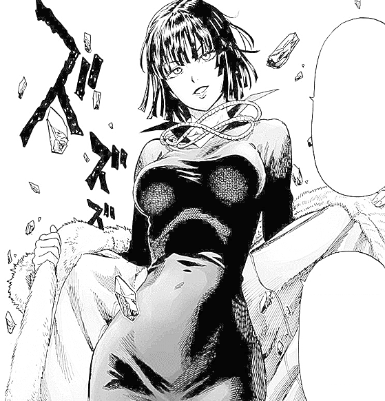 Fubuki com casaco para colorir do one punch man