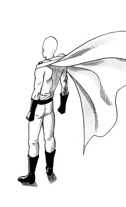 Saitama de Costa para colorir - Saitama de Costa para colorir do one punch man