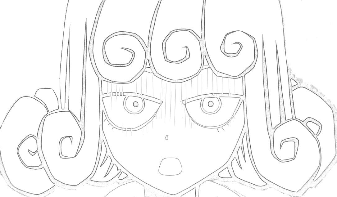 Tatsumaki Sendo Ignorada para colorir - Tatsumaki Sendo Ignorada para colorir