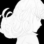Tatsumaki olhando nave de boros para colorir