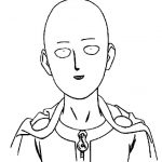 One punch man Saitama bobo para colorir