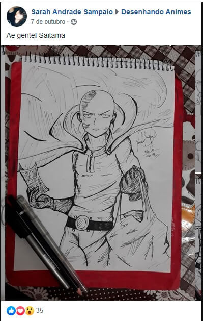 como desenhar o saitama - como desenhar anime